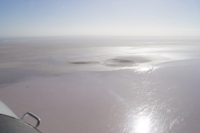 Islands in Kati Thanda-Lake Eyre South 24 June 2016