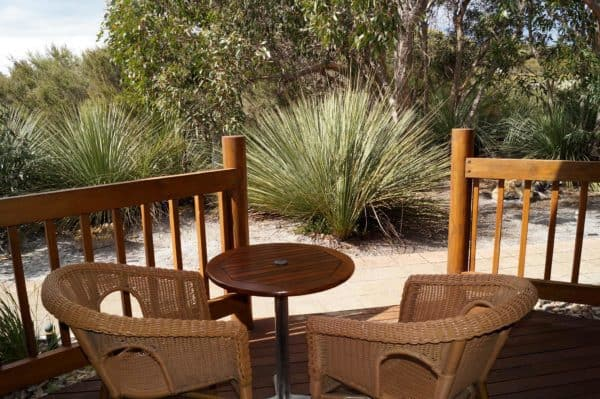 Kangaroo Island Wilderness Retreat Courtyard Balcony Kirkhope Aviation