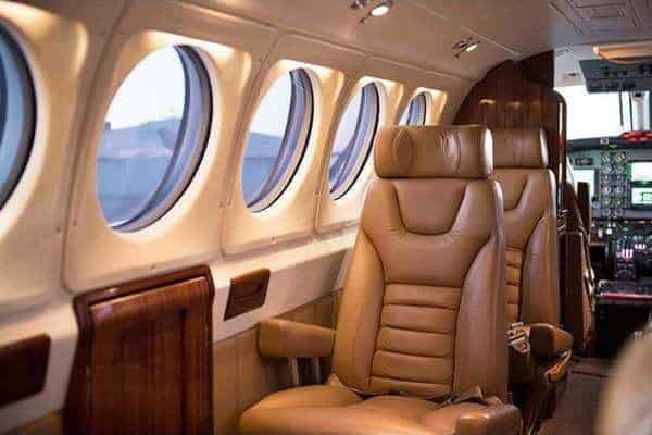 KingAir Aircraft ZOK interior leather seats