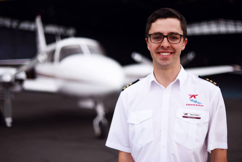 Kirkhope Aviation Pilot Nick Stobie