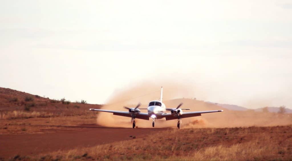 Piper Chieftain Landing