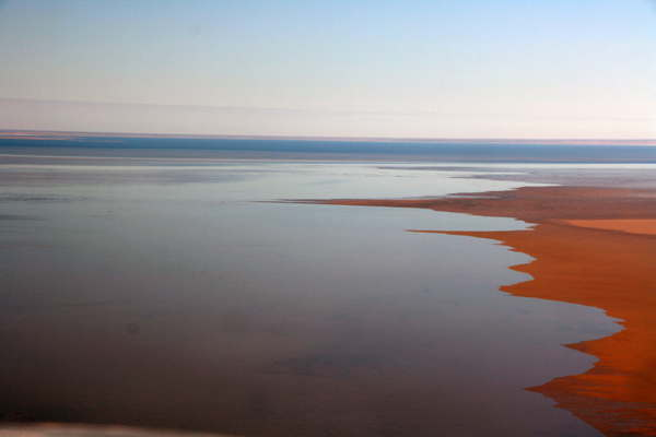 View from the plane over Lake Eyre