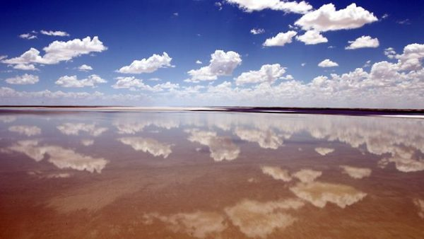 Lake Eyre Mirror Effect Clouds