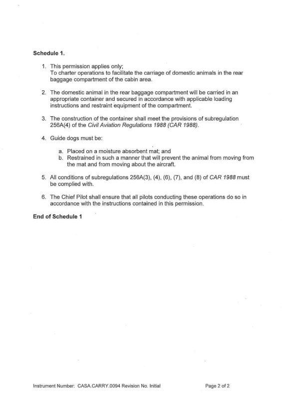 AOC Animal Carrier Permission Certificate 29 Jan 2018 P2