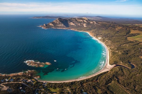Aerial Of Killiekrankie Bay, Flinders Island