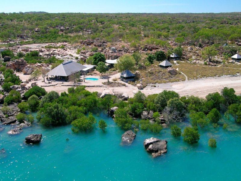Aerial Kimberley Coastal Camp