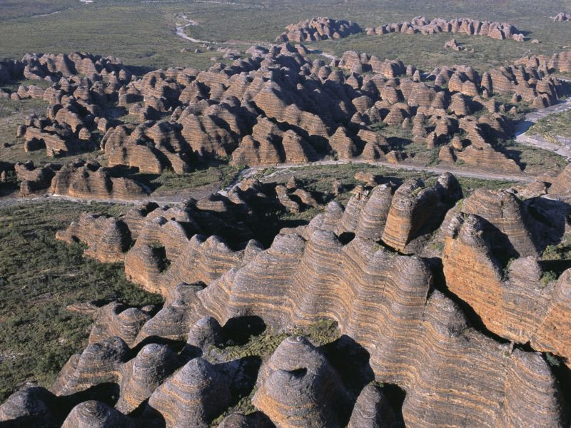 Aerial View Of The Bungle Bungle Range, Located In Purnululu National Park