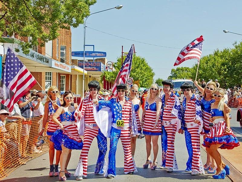 145420 Parkes Elvis Festival Parade CR Destination NSW 145420