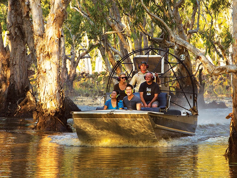 Airboat Over Wetlands CR Tourism NT Pete Eve 125817 56