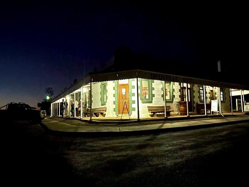 Birdsville Hotel At Night NS