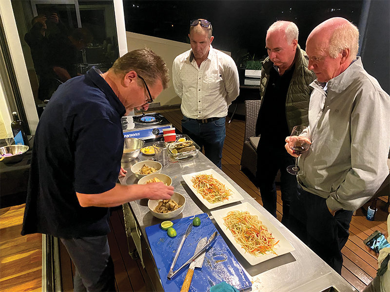 Cooking Masterclass with Kris Bunder - Photo by Jake Barden