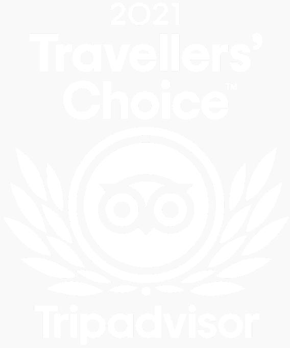 TripAdvisor Travelers Choice 2021 White On Transparent