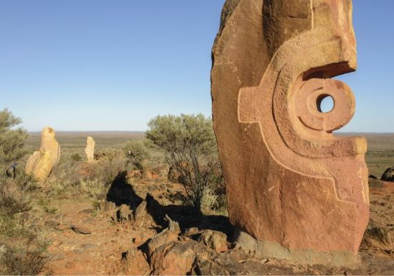 Sculptures on display at The Living Desert and Sculptures attraction in Broken Hill - photo by Destination NSW