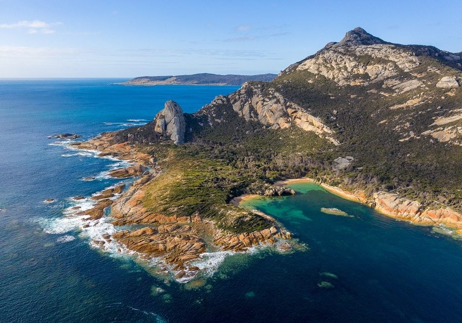Aerial Of Coastline Near Killiekrankie, Flinders Island